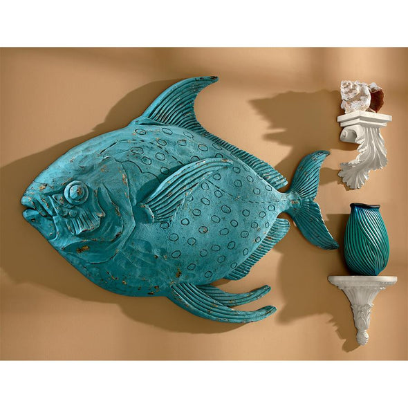 Ahoy Decoy Fish Wall Sculpture