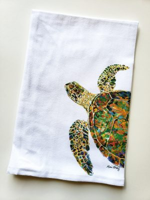 Sea Turtle Navigator Tea Towel