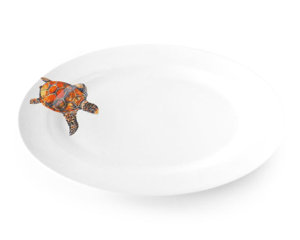 Free Style Sea Turtle Medium Oval Platter