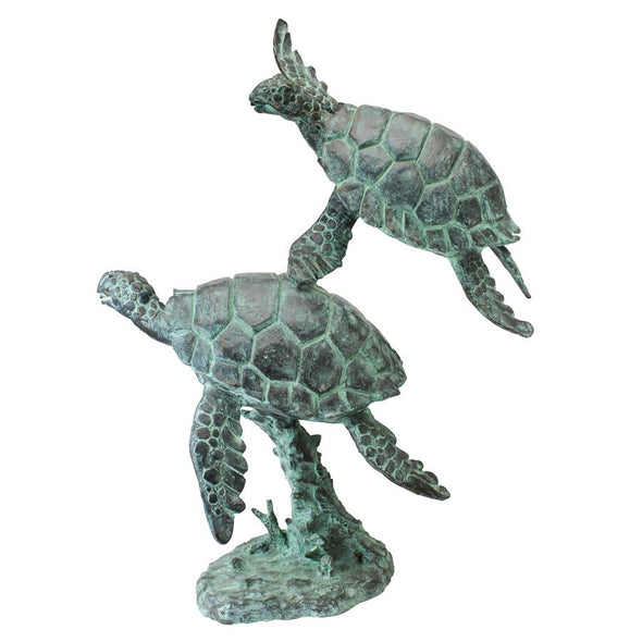 Sea Turtles Bronze Garden Statue