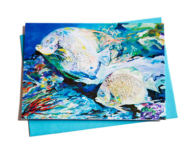 Pair of Angels Note Card