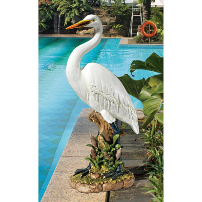 Great White Egret Statue