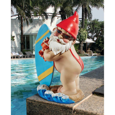 The Shredder Surfer Dude Gnome Statue