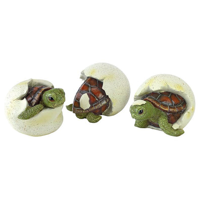 S/3 Out Of The Shell Baby Turtle Statues