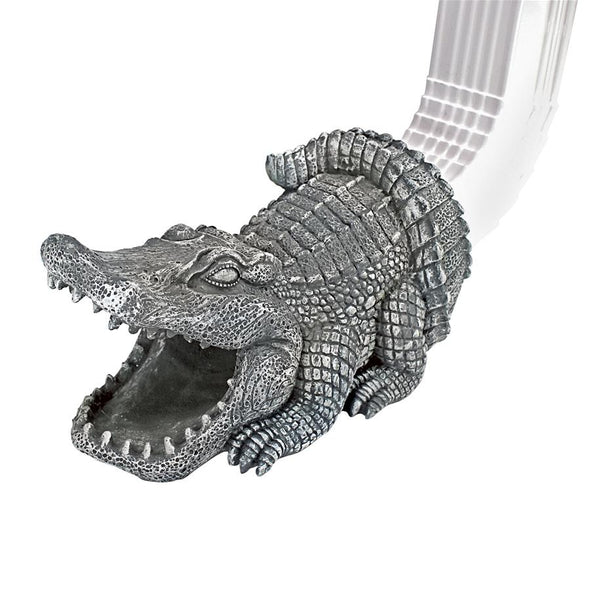 Swamp Alligator Rain Gutter