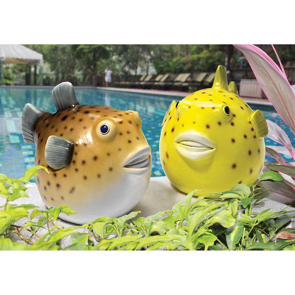 S/2 Pudgy Pufferfish Statues