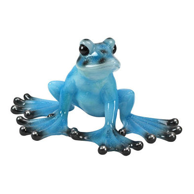 Tropical Blue Frog Statue