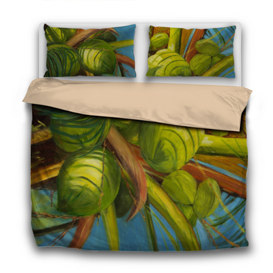 Green Coconuts 3-Piece Bedding Set