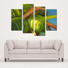 Green Coconuts 4 Panel Canvas Prints