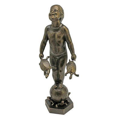 Turtle Boy Cast Iron Statue