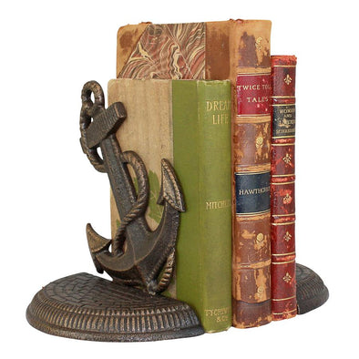 Maritime Anchor Cast Iron Bookend Set