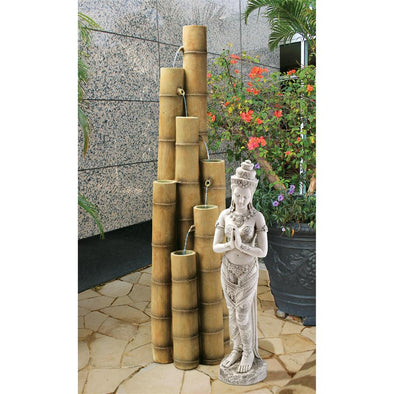 Large Bamboo Poles Fountain