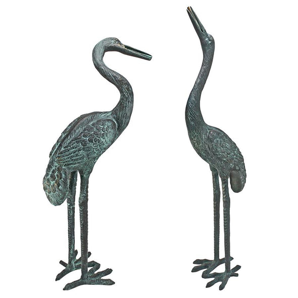 Bronze Cranes Pair Medium Nr