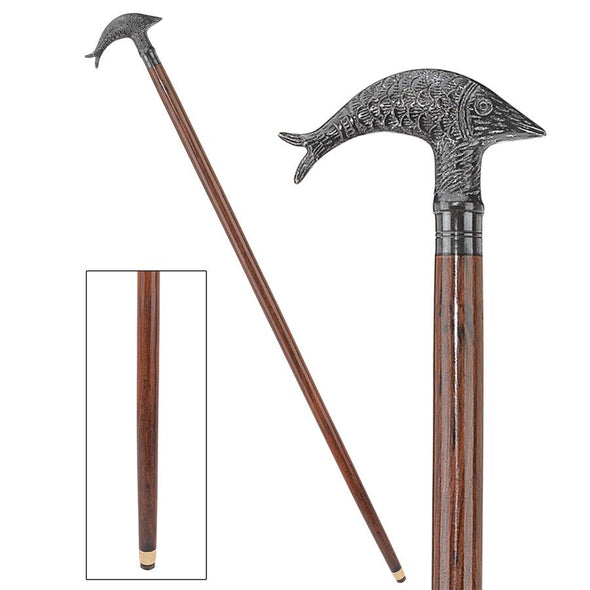 Dolphin Handle Walking Stick