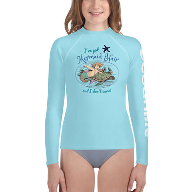 Mermaid Hair Youth Girl's Rash Guard
