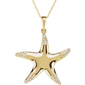 1/5 Diamond Carats Starfish Necklace