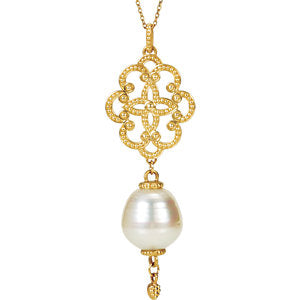 14K Yellow South Sea Cultured Pearl Necklace