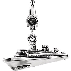 Sterling Silver Cruise Ship Charm