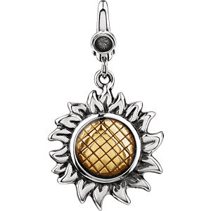 Enamel Sunflower Charm