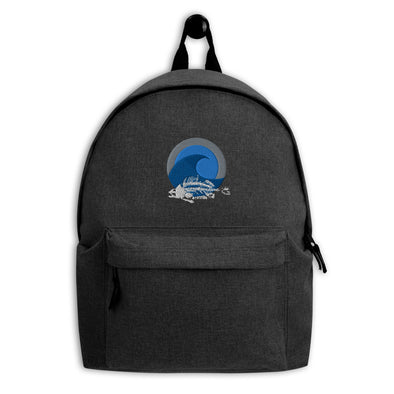 Fish Bones Embroidered OceanLife Backpack