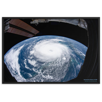 Hurricane Dorian from Space - Framed Print for Bahamas Relief