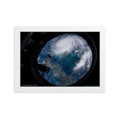 Dorian Space Porthole - Framed Print for Bahamas Relief