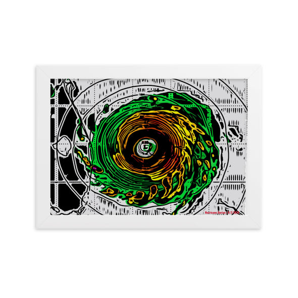 Dorian Radar - Framed Print for Bahamas Relief