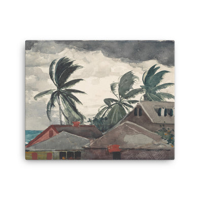 Hurricane, Bahamas by Winslow Homer - Canvas