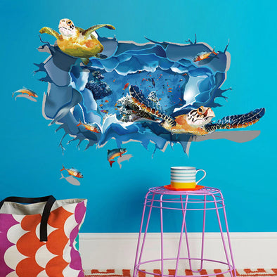 Sea Turtle 3D Wall Sticker
