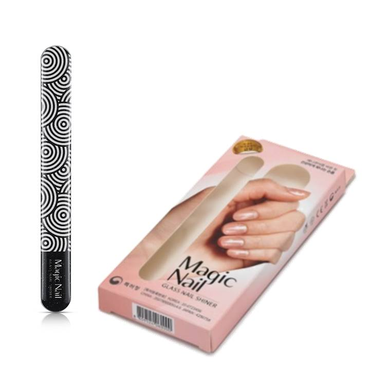 Magic Nail Glass Nail Shiner - Black Twirl