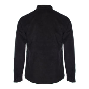 Black Embroidered Suede Scaffolding Jacket