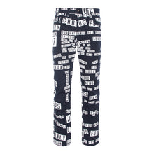Load image into Gallery viewer, Navy Sticker All-Over Print Denim Jean