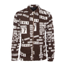 Load image into Gallery viewer, Brown Sticker All-Over Print Denim Zip Jacket