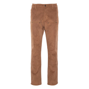 Brown Suede Carpenter Pant