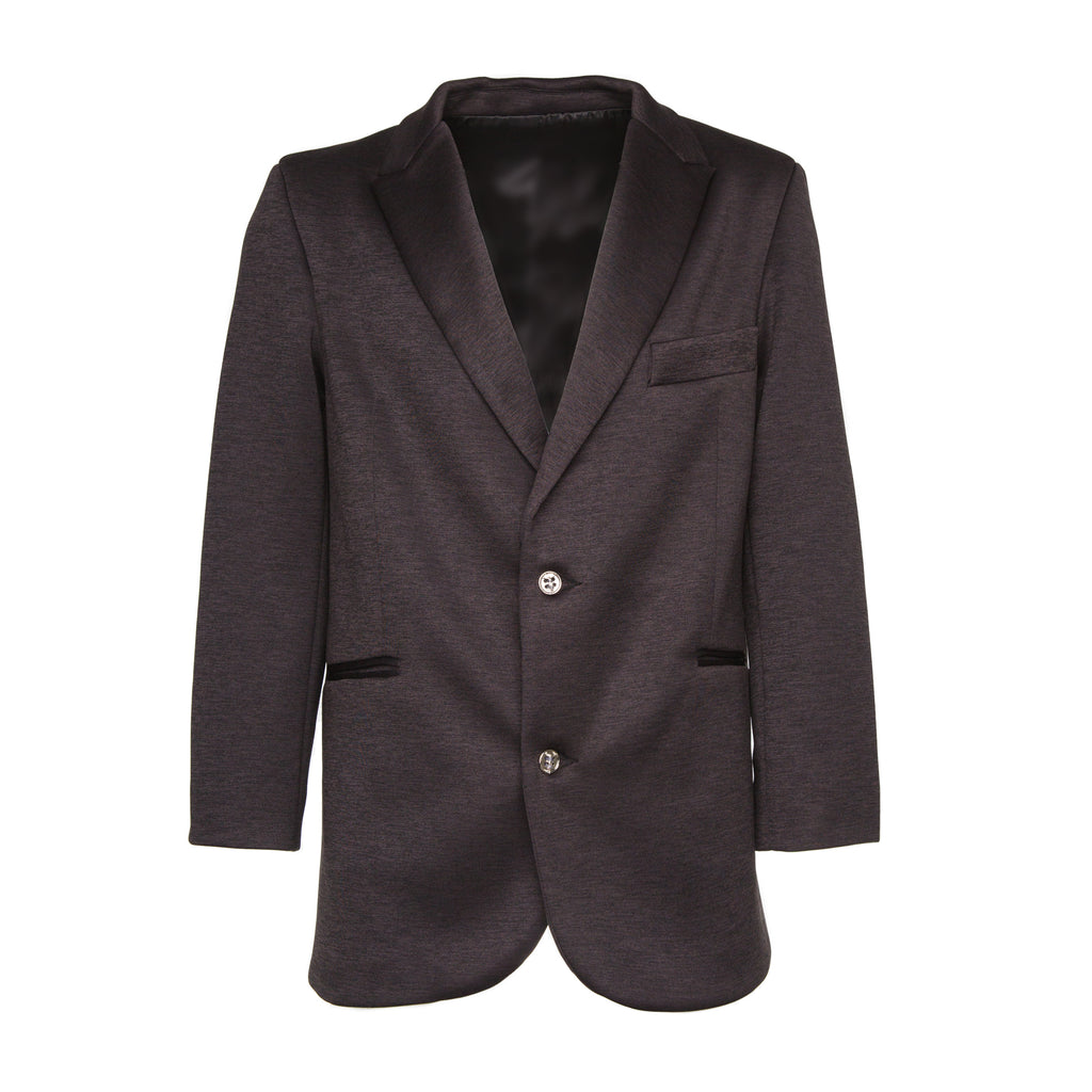 Black Neoprene Perforated Cross Blazer