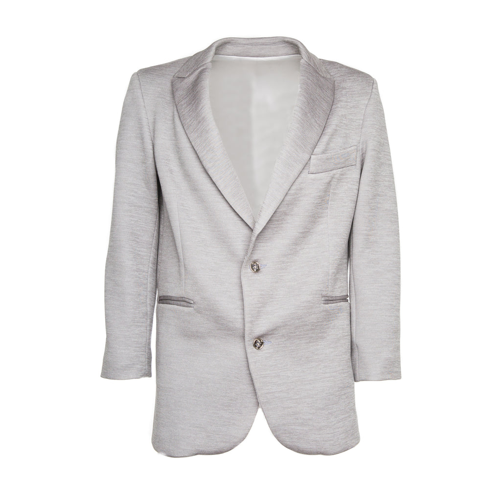 Grey Neoprene Blazer