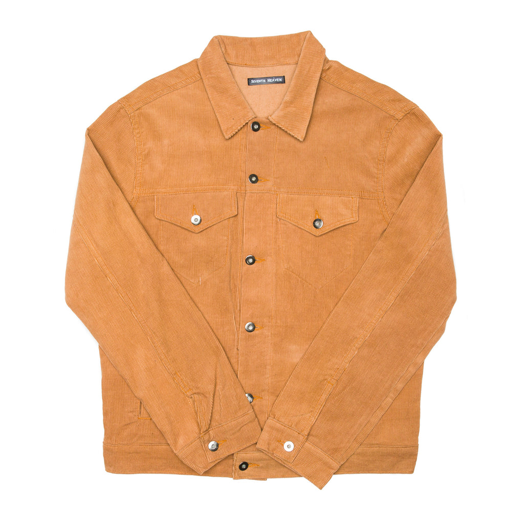Tan Corduroy Trucker Jacket