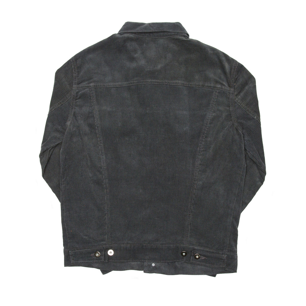 Grey Corduroy Trucker Jacket