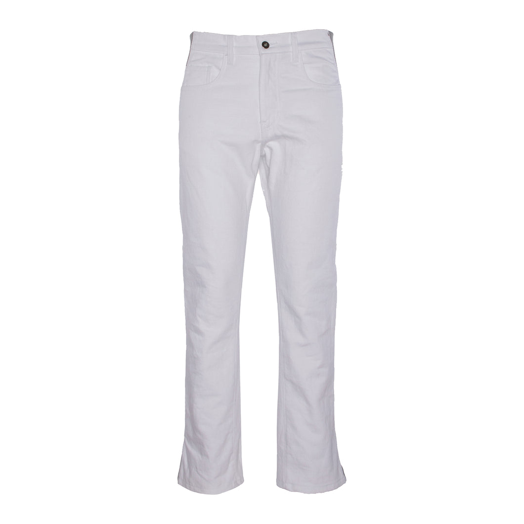 White Denim Jean w/ Spacer Mesh Detailing