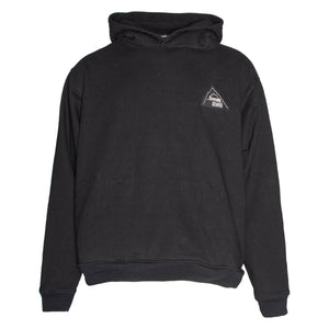 Black Mountaineering Patch Hooded Sweatshirt