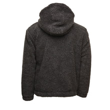 Load image into Gallery viewer, Black Sherpa Double Quarter-Zip Pullover