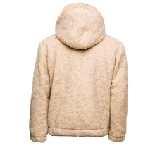Load image into Gallery viewer, Tan Sherpa Double Quarter-Zip Pullover