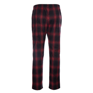 Red Chain-Stitched Flannel Trouser