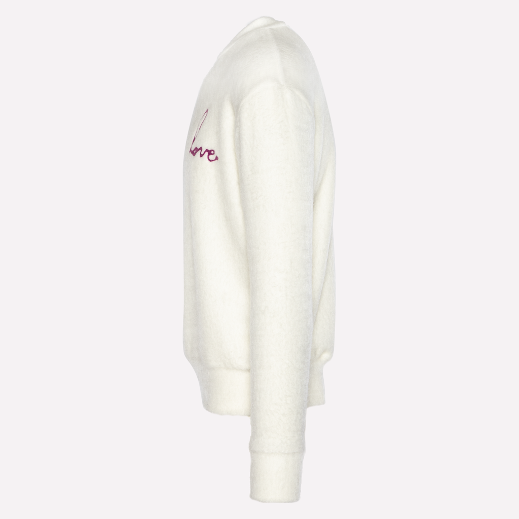White Brush Sweater