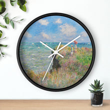 "Load image into Gallery viewer, Claude Monet ""Cliff Walk at Pourville"" Wall Clock"