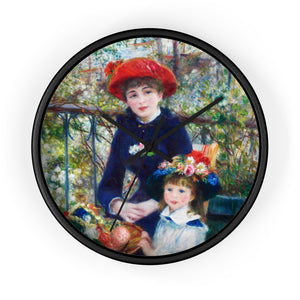 "Auguste Renoir ""Two Sisters"" Wall Clock"
