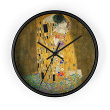 "Load image into Gallery viewer, Gustav Klimt ""The Kiss"" Wall Clock"