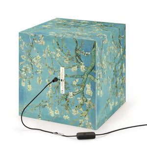 "Van Gogh ""Almond Blossoms"" Cube Lamp"