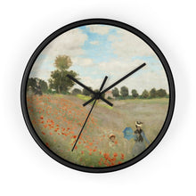 "Load image into Gallery viewer, Claude Monet ""Poppies"" Wall Clock"