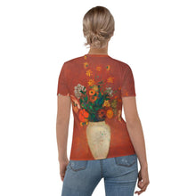 "Load image into Gallery viewer, Odilon Redon ""Bouquet in a Chinese Vase"" Women's T-Shirt"